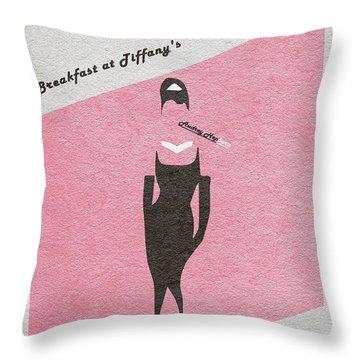 Breakfast At Tiffany's Throw Pillow by Ayse Deniz
