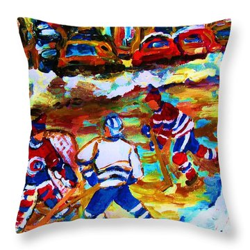 Breaking  The Ice Throw Pillow by Carole Spandau