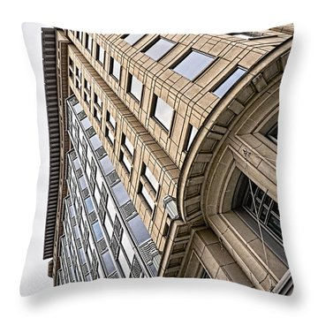 Brick And Steel And Glass Throw Pillow by Christopher Holmes