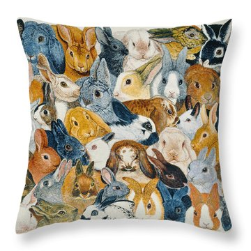 Bright Eyes Throw Pillow by Pat Scott