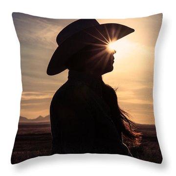 Bright Eyes Throw Pillow by Todd Klassy
