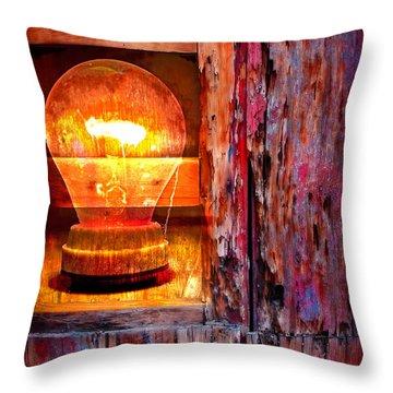 Bright Idea Throw Pillow by Skip Hunt