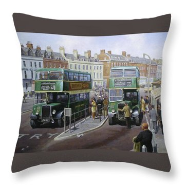 Bristols At Weymouth Throw Pillow by Mike  Jeffries