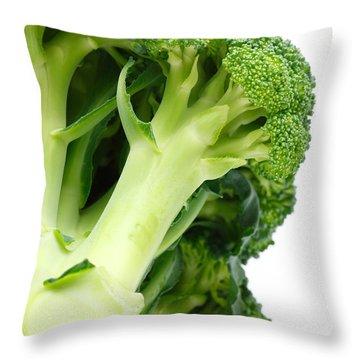 Broccoli Throw Pillow by Gaspar Avila
