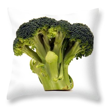 Broccoli  Throw Pillow by Olivier Le Queinec