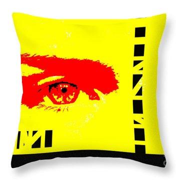 Broken Throw Pillow by Amanda Barcon