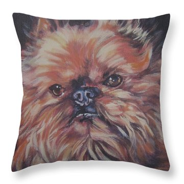 Brussels Griffon Throw Pillow by Lee Ann Shepard