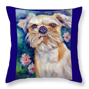 Brussels Griffon Throw Pillow by Lyn Cook