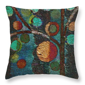 Bubble Tree - Spc02bt05 - Left Throw Pillow by Variance Collections