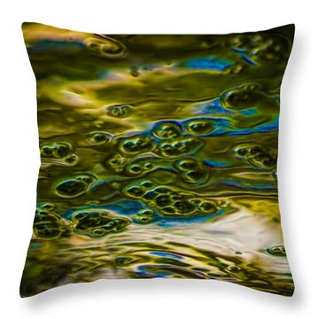 Bubbles And Reflections Throw Pillow by Marvin Spates