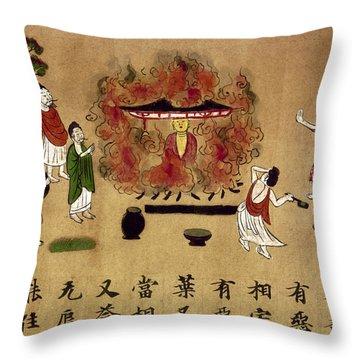 Buddha Throw Pillow by Granger