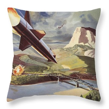 Bullpup Air To Surface Missile Throw Pillow by American School