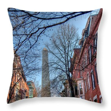 Bunker Hill Throw Pillow by Susan Cole Kelly