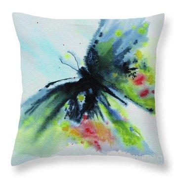 Butterfly 1 Throw Pillow by Karen Fleschler