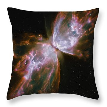 Butterfly Nebula Throw Pillow by The  Vault - Jennifer Rondinelli Reilly