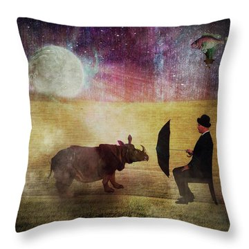 By The Light Of The Moon Throw Pillow by Terry Fleckney