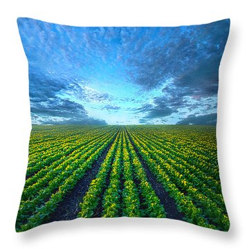 Cabbage Forever Throw Pillow by Phil Koch