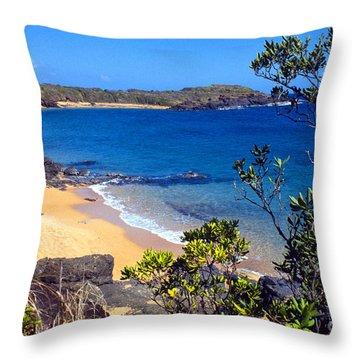 Cabeza Chiquita El Convento Beach Throw Pillow by Thomas R Fletcher