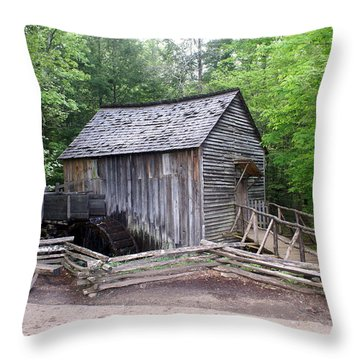 Cable Mill Throw Pillow by Marty Koch