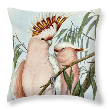 Cacatua Leadbeateri Throw Pillow by John Gould