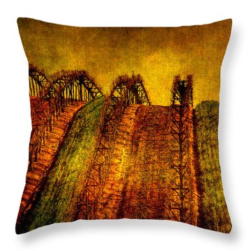 Californian Wine Throw Pillow by Susanne Van Hulst