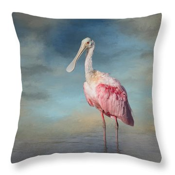 Call Me Rosy Throw Pillow by Kim Hojnacki