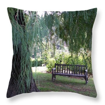 Calm Throw Pillow by Amy Fose