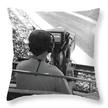 Camera's Man..... Throw Pillow by WaLdEmAr BoRrErO