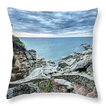 Cami De Ronda, Sant Antoni De Calonge Throw Pillow by Marc Garrido