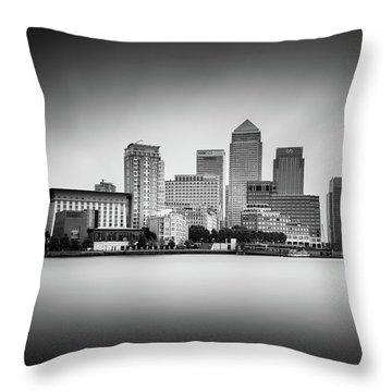 Canary Wharf, London Throw Pillow by Ivo Kerssemakers
