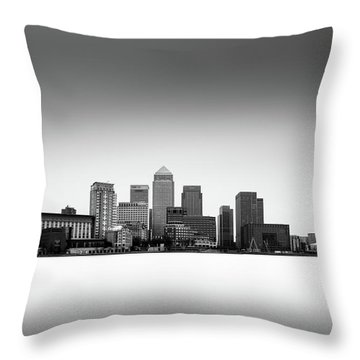 Canary Wharf Skyline Throw Pillow by Ivo Kerssemakers