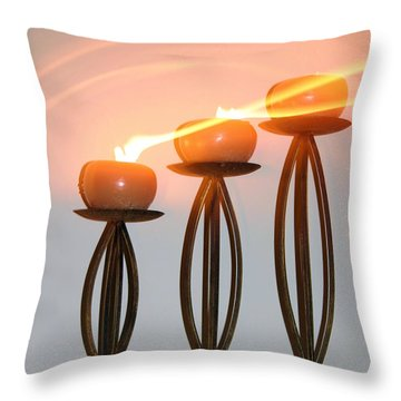 Candles In The Wind Throw Pillow by Kristin Elmquist