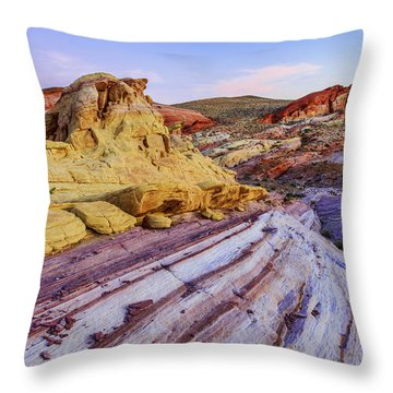 Candy Cane Desert Throw Pillow by Chad Dutson
