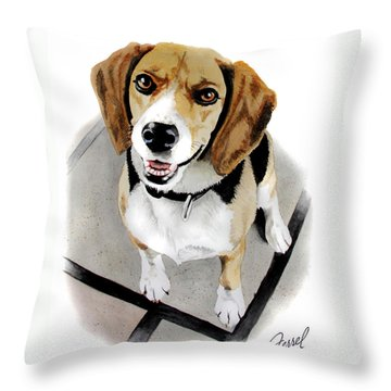 Canine Cutie Throw Pillow by Ferrel Cordle