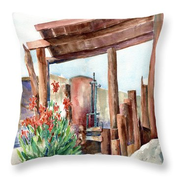 Canna And Boiler Run Throw Pillow by John Ressler