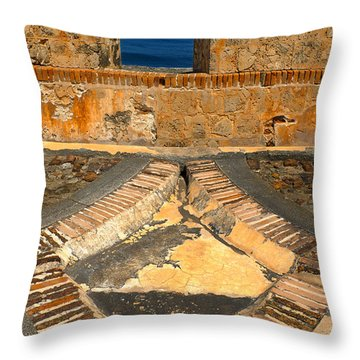 Cannon Portal Throw Pillow by Stephen Anderson