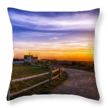 Cape Cod Light Throw Pillow by Mark Papke