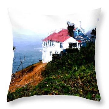 Cape Foulweather Throw Pillow by Methune Hively