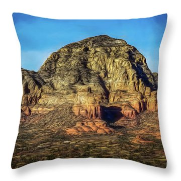 Capital Butte Throw Pillow by Jon Burch Photography