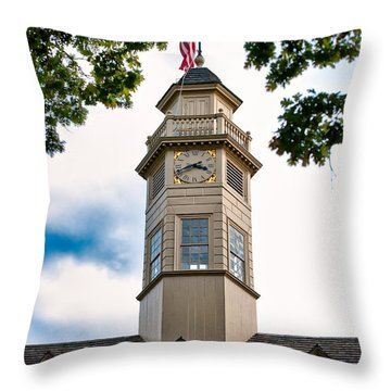 Capitol Time Throw Pillow by Christopher Holmes