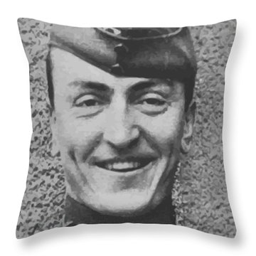 Captain Eddie Rickenbacker Throw Pillow by War Is Hell Store