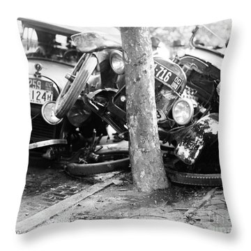 Car Accident, C1919 Throw Pillow by Granger