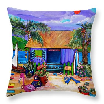 Cara's Island Time Throw Pillow by Patti Schermerhorn