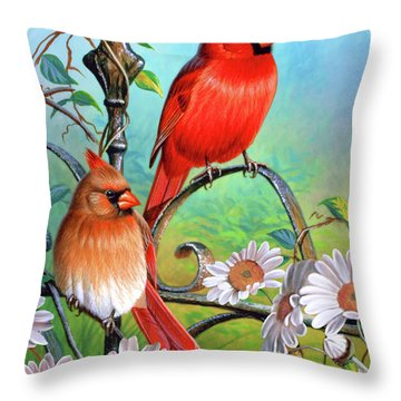 Cardinal Day 3 Throw Pillow by JQ Licensing