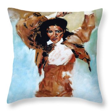 Carmen Amaya Throw Pillow by Manuel Sanchez