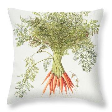 Carrots Throw Pillow by Margaret Ann Eden