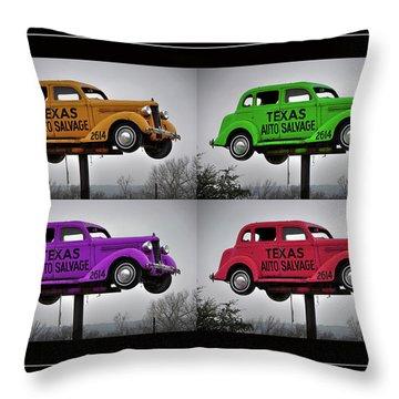 Cars Throw Pillow by Joan Carroll