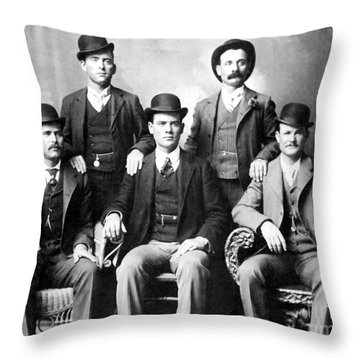 Cassidy And Longbaugh Throw Pillow by Granger