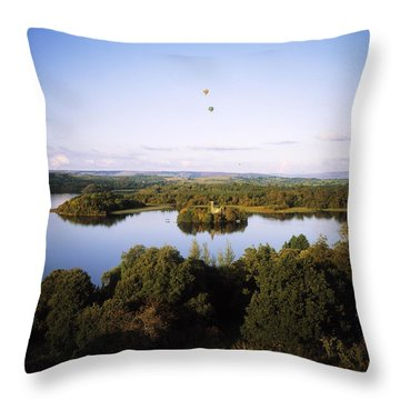 Castleisland Lough Key Forest Park Throw Pillow by The Irish Image Collection