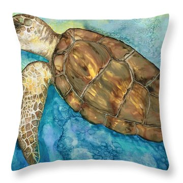 Catch A Wave Throw Pillow by Lisa  Marsing
